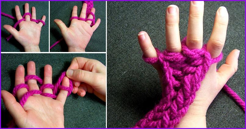Что можно сделать из ниток для вязания без крючка и спиц 75