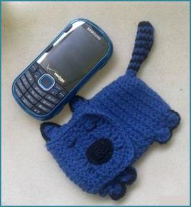 Синий чехол в виде собачки