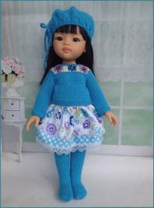 Кукла в голубом