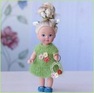 Чудо куколка в зелёном платье