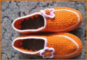 Оранжевые тапочки