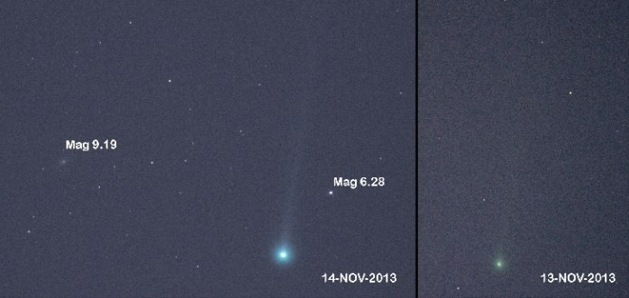 Fotos: El cometa ISON sorprende y ya es observable a simple vista