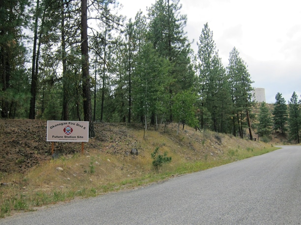 This 5-acre parcel on Horizon Flats Road in Winthrop will be the site of Okanogan County Fire District 6's new fire station. Photo by Don Nelson