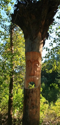This totem by Bruce Morrison stands along the Twisp Ponds trail. Photo by Ann McCreary