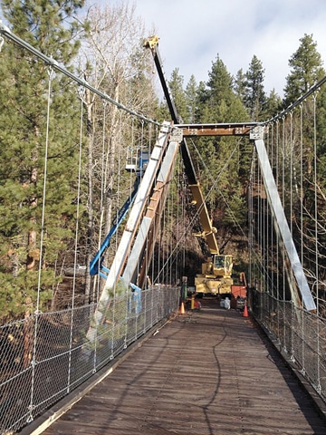 The Tawlks-Foster bridge over the Methow River near Mazama has been upgraded to  handle a variety of traffic. Photo courtesy MVSTA