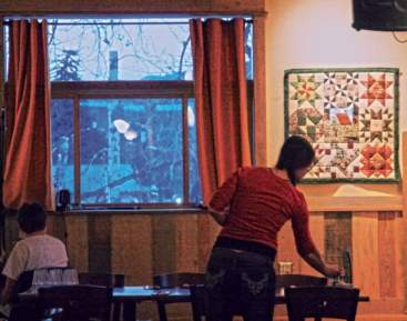 Art on display at Twisp River Pub. Photo by Marcy Stamper