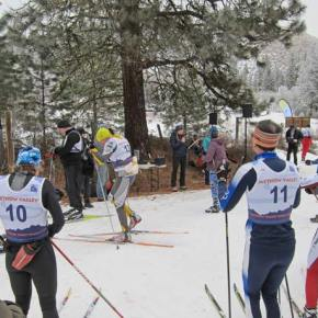 Racers get directions from MVSTA organizers. Photo by Don Nelson