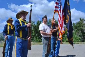 merican Legion Post 120 members practice the honor guard ceremony. Photo by Laurelle Walsh