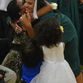 Korrie Perryman and family. Photo by Laurelle Walsh