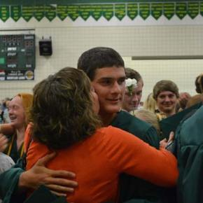 Jake Pennock receives a kiss from mom Tammy.Photo by Laurelle Walsh