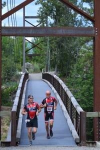 """Team War,"" a duo from Wenatchee, was first ""tandem"" team to cross the finish line. Photo by Laurelle Walsh"