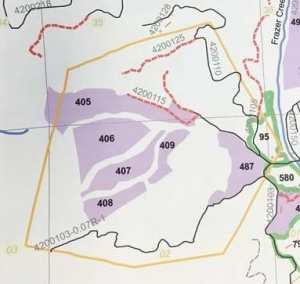 In this map, the purple areas illustrate the areas where work is needed.
