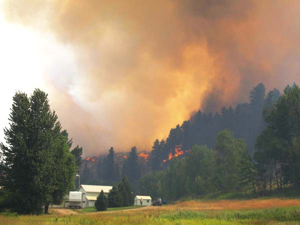 Methow Valley News file photo by Don Nelson The Rising Eagle Road Fire broke out on Aug. 1, 2014, and spread rapidly.