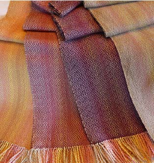 Photo courtesy the Winthrop Gallery Katie Swanson's scarves use fibers suited for— and sourced from — summery climates.