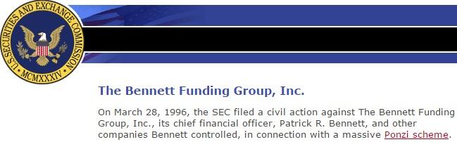 Charatan Ponzi Scheme Bennett Funding Group