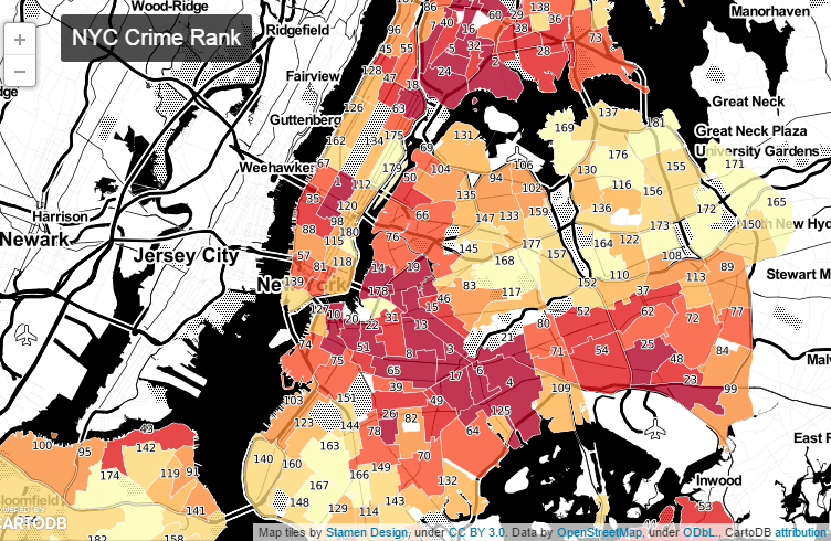 The  Best New York City Maps Of  Metrocosm - Is there a color coded map of us crime
