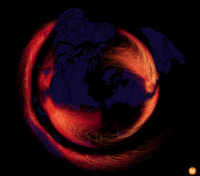 map of every hurricane, cyclone, and typhoon