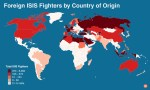 isis fighters by country map