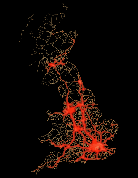uk road traffic map
