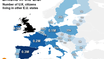 Which EU Country Has The Most Citizens Living Abroad Metrocosm - Brits label us map 2015