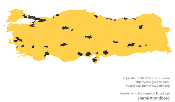 Turkey Population Distribution Map