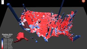 Presidential Elections Used To Be More Colorful Metrocosm - 2016 election results us map by county