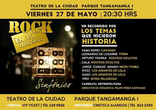 Rock en tu idioma Sinfónico en San Luis Potosí @ Teatro de la Ciudad | San Luis Potosí | San Luis Potosí | México