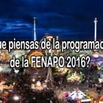 programación fenapo 2016 encuesta