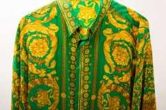 vintage_Gianni_Versace_silk_shirt_baroque_barocco_print_green_gold_Sammy_Ninos_1