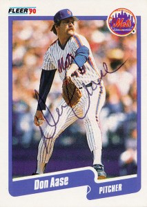MetsPolice Don Aase Signed Card 1