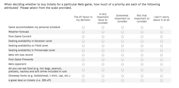 mets survey about tickets