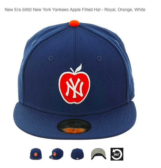 yankees apple cap