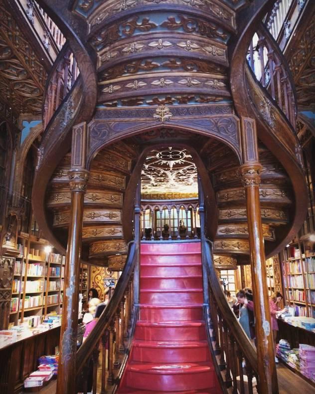 Lello Library in Porto where JK Rowling went for inspirationHarryPotterhellip