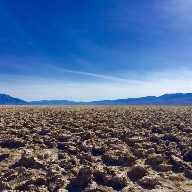 Salt flats at Deathvalley nationalpark california