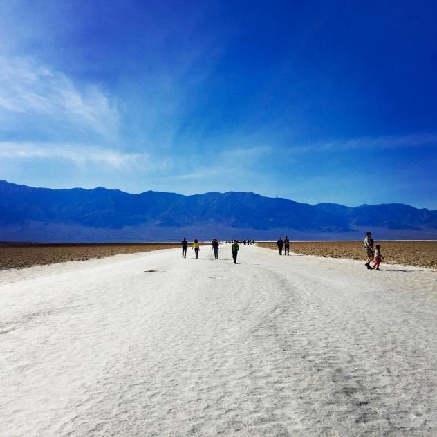 Feeling salty? At the saltflats in deathvalley called the badwaterbasin