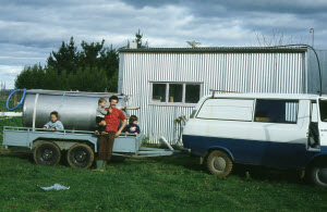 First Milk Delivery NewZealand 1984