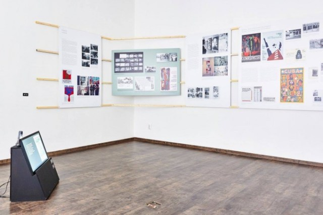Artist Networks (Paris and Italy),Cartography of Artist Solidarity – Narratives and Ghosts from the International Art Exhibition for Palestine, 1978, tranzit.hu, Budapest, 2016. Photo by Dávid Biró.