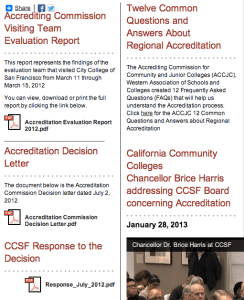 CCSF page