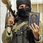 Terrorist Nahr Al-Bared shows off his free Quran he received for opening a money market account at HSBC