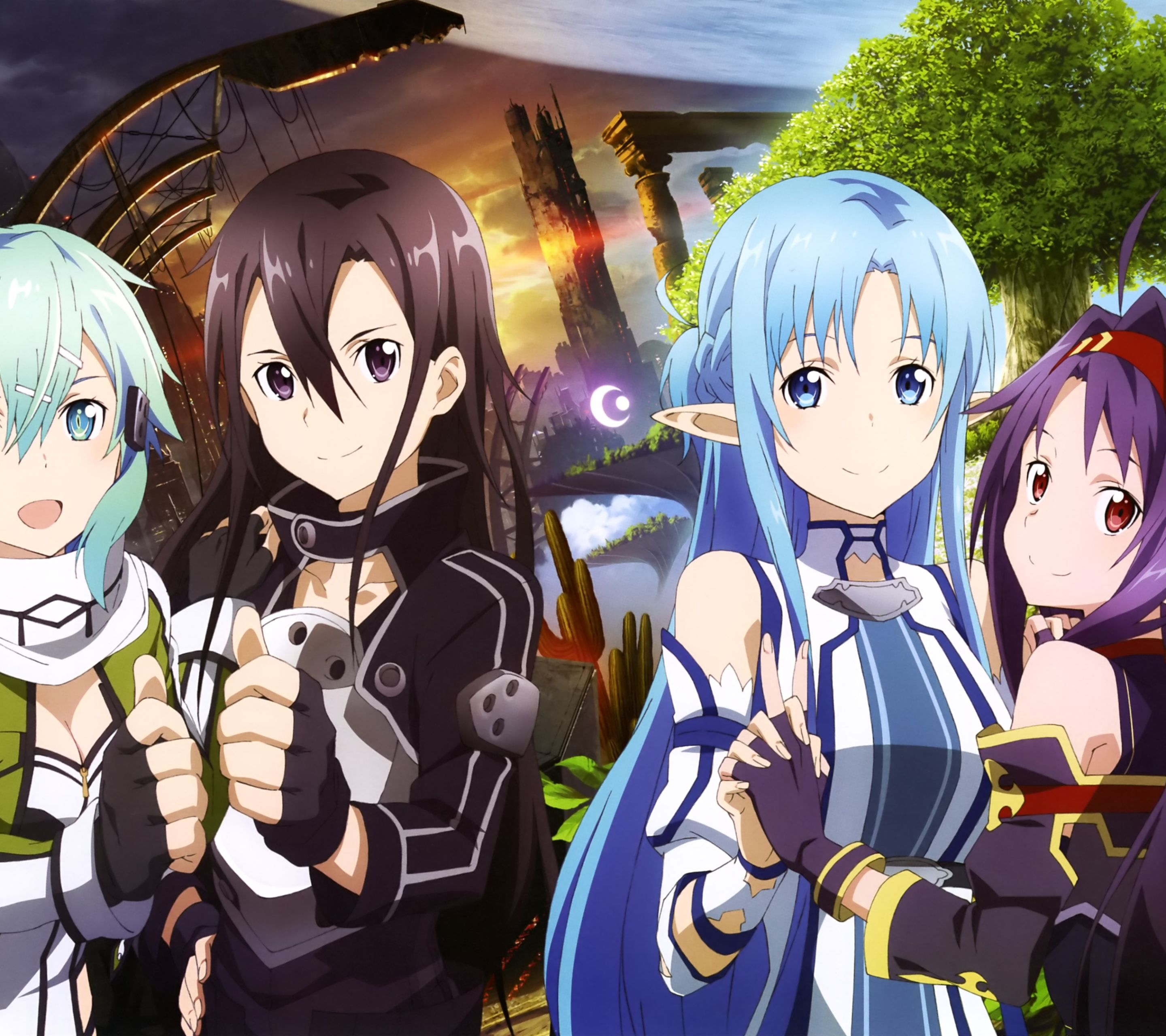 Anime Sword Art Online II  2880x2560  Wallpaper ID  622145   Mobile     Wallpaper 622145