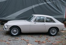 The MGB GT before its' winter hibernation. Looking good, at least from a distance.