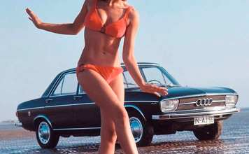 Audi bikini girl on the beach.