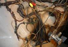 1967 MGB GT engine bay crud