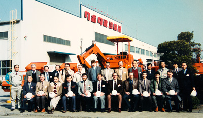 Kubota KH10D - the first model to come off the production line in Japan