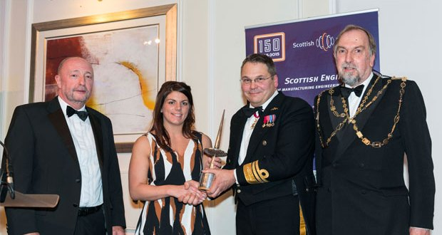 Forth Ports Harbour Master wins prestigious Scottish Engineering award Ashley Nicholson wins the Hammermen award for 2016