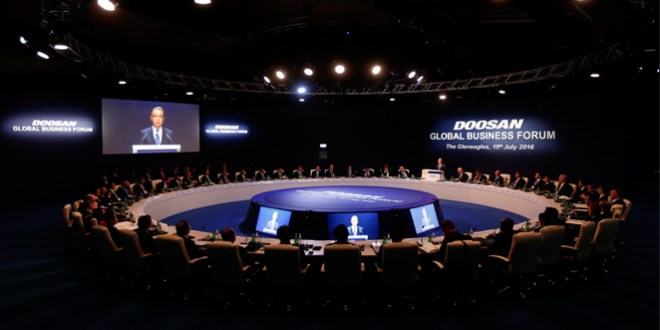 Doosan hosts the Doosan Global Business Forum 2016 in Scotland