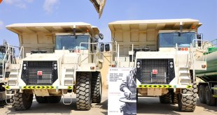 Two Terex Trucks TR60 rigid dump trucks provide versatility at Oman Cement Company quarry in Muscat