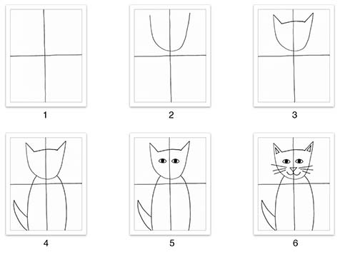 How to make an abstract cat drawing -children's art project