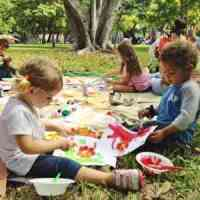 Free Art in the Park for kids