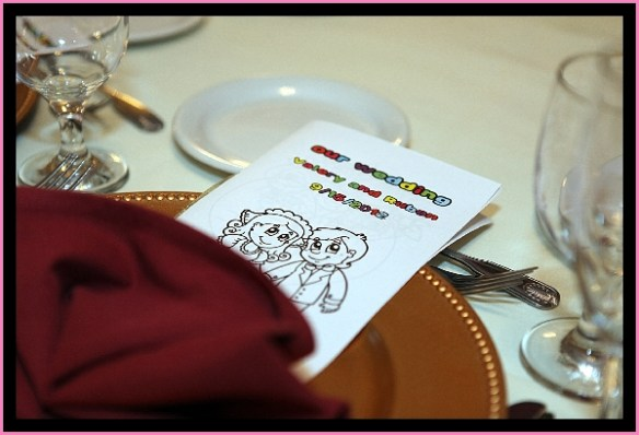 Cololing book for Miami Wedding Kids